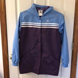 NWOT adidas kids wind breaker jacket/raincoat